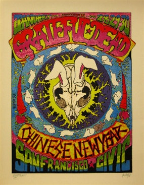 grateful dead chinese new year poster - Chinese New Year 1987